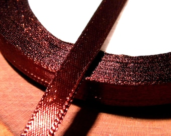 22 M 6 mm satin ribbon in reel - chocolate-SA10