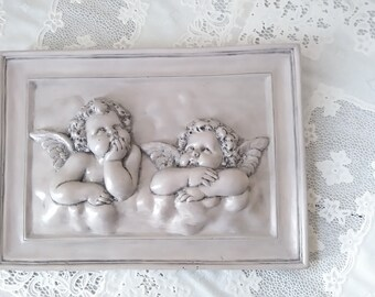 raised Angels weathered old table