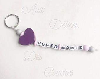 Personalized bead Keyring