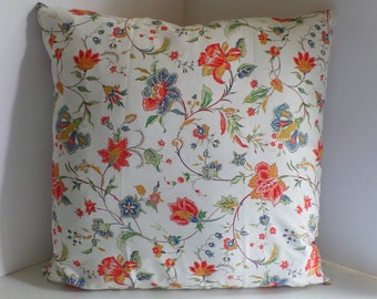 Square Pillow Cover, 20x20 inches, Zipper Closure, Liberty of London Kirstie Floral Fabric Sham