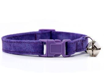 Purple Cat Collar with breakaway buckle