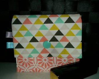 Card holder or coin purse, cotton with snap