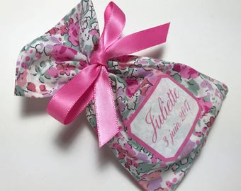 10 bags of sweets customized Claire Aude Liberty rose