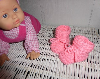 Booties knit baby layette