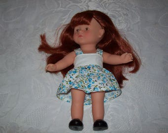 20 cm:type corolline doll dress, cotton print dress