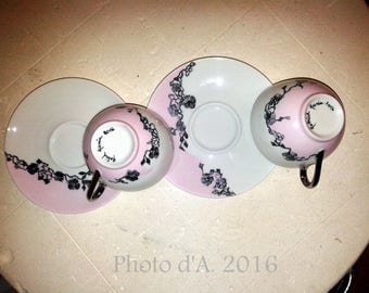 """So girly"" coffee mug (pair)"