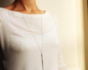 Necklace * Eva * bar minimalist silver chain