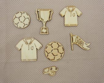About wooden embellishment: football