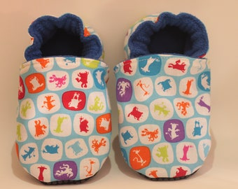 Child boy or baby soft booties * custom *.