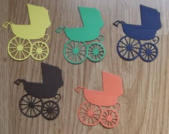 5 carriages for your scrapbooking creations, set no. to18 cuts.