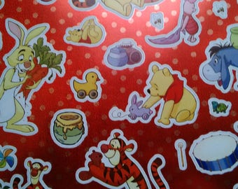 set of 38 stickers, with winnie the Pooh, Tigger, piglet disney brilliant metallic effect
