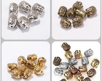 10 x 8 mm colors 10 Buddha beads