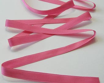 3 meters of satin ribbon, 12 mm, pink, sold by the yard.