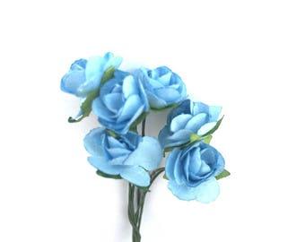 "Flower with stem modular ""blue"""
