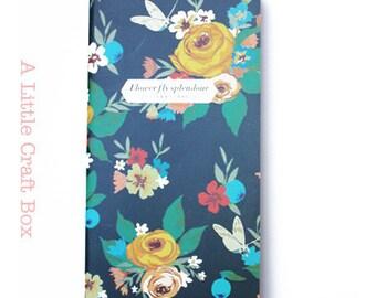 "1 notebook ""Roses"" - Blue Navy"