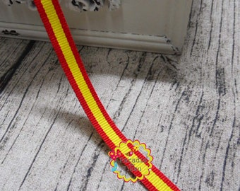 x 5 meters lace Ribbon 10MM tricolor Spanish flag