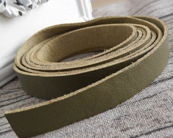 120cm straps handles tabs to dusty green leather bag