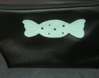Faux leather cosmetic case