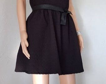 Black dress. T38.   HAND MADE