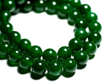8pc - pearls - balls 12mm Imperial Green Jade - stone 4558550089755