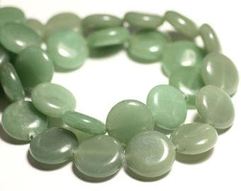 2PC - stone beads - Aventurine green 16mm - 8741140015548 pucks