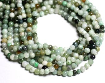 Stone - Burma Jade beads 10pc - balls 4mm - 4558550092830