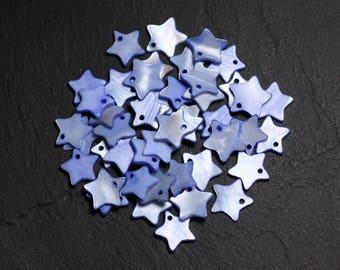 10pc - pendants charms Pearl 11-12mm Pastel Lavender - 4558550087836 blue stars