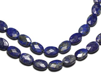 2PC - stone - Lapis Lazuli faceted oval 14x10mm - 8741140019584 beads