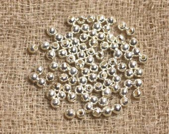 10pc - beads 3mm - 4558550018786 round 925 sterling silver
