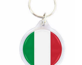 Italy - Ø40mm flag key chain