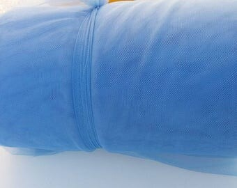 Blue soft tulle 100 meter tender 150 cm width