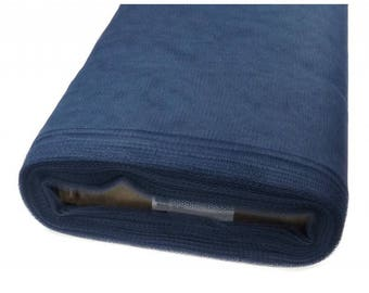 Navy Blue soft tulle width 120 cm