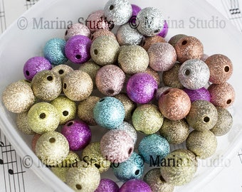 50 stardust 12mm beads: mixed (MS22825)
