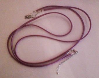 1 set of 2 cords purple suede