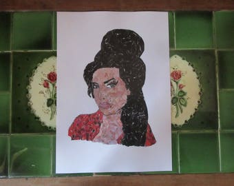 Collage Print- Amy Winehouse