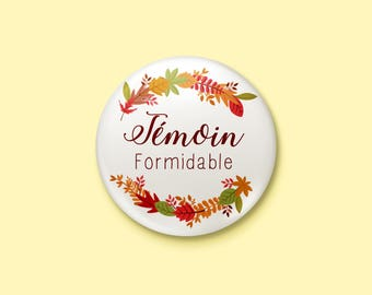 Wedding autumn - witness badge