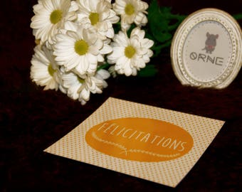 """""""Congratulations"""" postcard"""