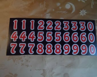 30 large dial, Stickers, stickers, adhesive red color