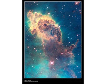 Hubble Space Telescope Poster - Jet in the Carina Nebula - High Quality Poster Paper Laminated