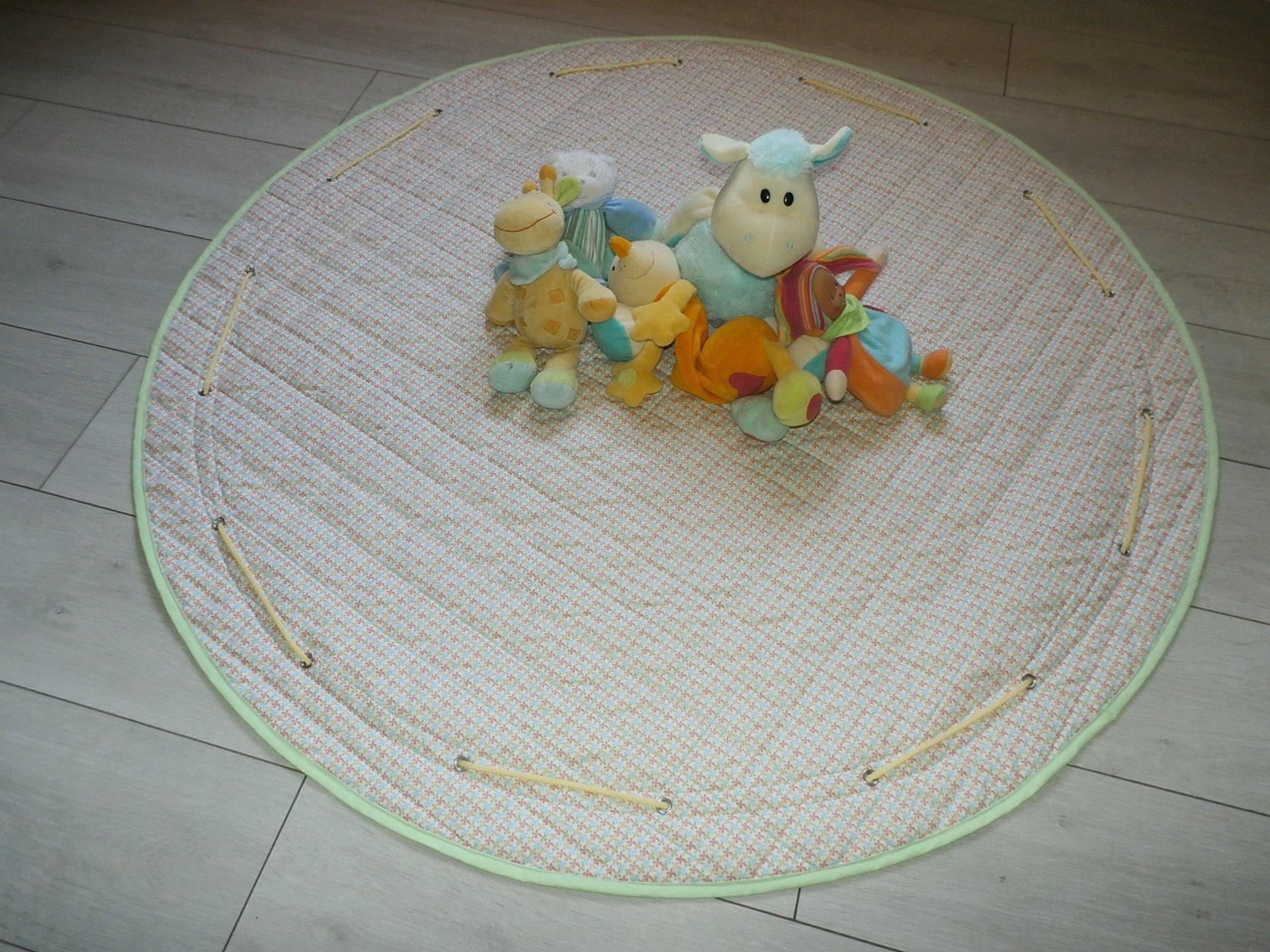 sac jouets tapis de jeu en tissu matelass. Black Bedroom Furniture Sets. Home Design Ideas