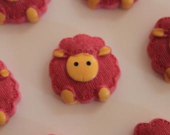 pretty little pink and beige sheep