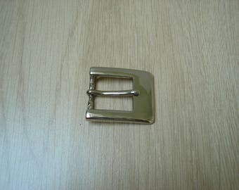 metal rectangle belt buckle chrome