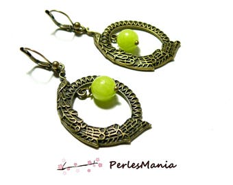 Unique jewelry: Heaven lime Peacock earring