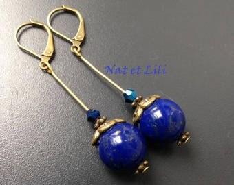 Lapis lazuli and bronze swing