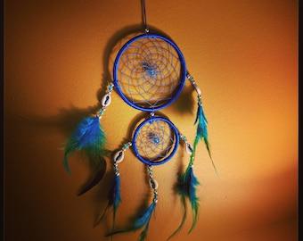 Blue Shell Dream Catcher