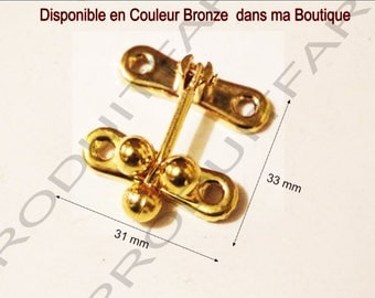 Set of 6 clasps latch ball gold lock box treasure chest box 33 x 31 screws included