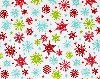 Mini snowflake 54cmx22 cm fabric coupon
