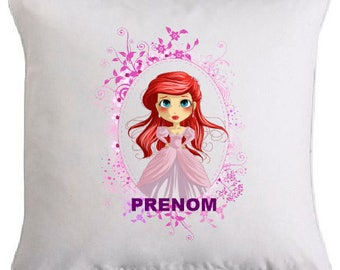 Princess pillow personalized with the name of your choice