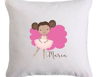 Small cushion dancer personalized with name