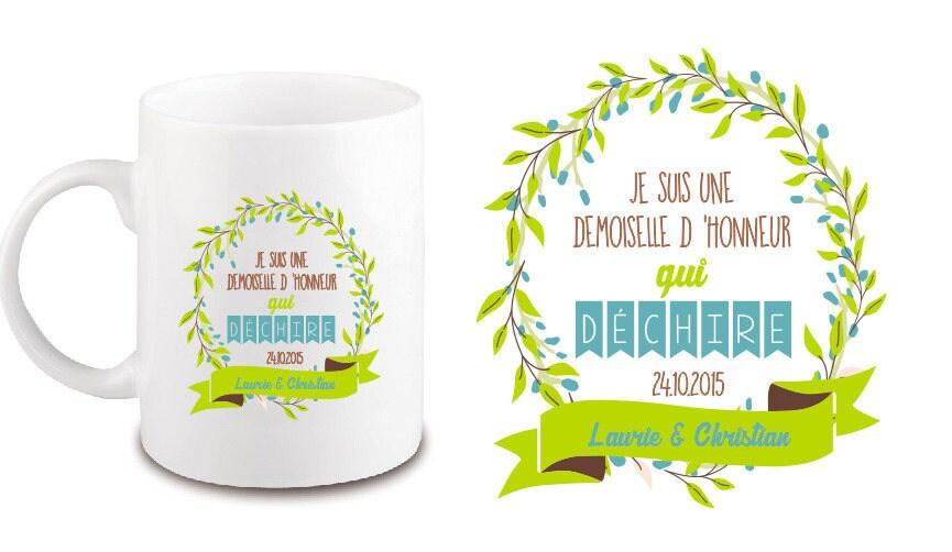 mug ceramique cadeau de demoiselle d 39 honneur ou autre. Black Bedroom Furniture Sets. Home Design Ideas